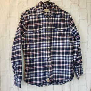 JACHS Plaid Flannel Button-down Shirt